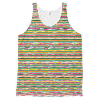 Wavy Lines Earth Tone Hippie All Over Print All-Over-Print Tank Top