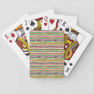 Wavy Lines Earth Tone Hippie All Over Print Playing Cards