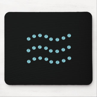 Wavy lines mouse pad