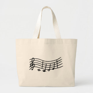 Wavy Music Scale and Notes Tote Bags
