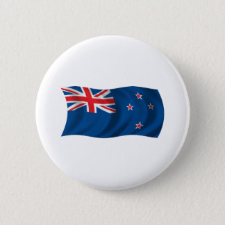 Wavy New Zealand Flag 2 Inch Round Button