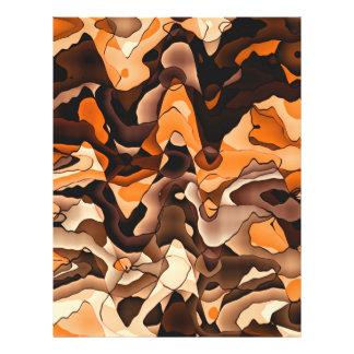 Wavy orange and brown flyer design
