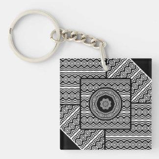 Wavy panels keychain