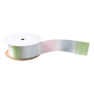 Wavy Pastel Pink Blue & Green Ribbon Satin Ribbon