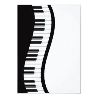 Wavy Piano Keyboard Invitation Card