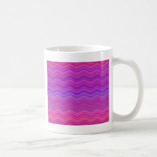 Wavy Pink Purple Abstract Coffee Mug