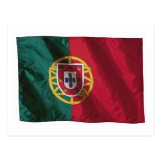 Wavy Portugal Flag Postcard