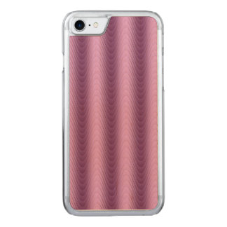 Wavy Purple Stripes Modern Design Carved iPhone 7 Case