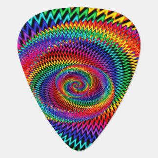 Wavy Rainbow Fractal Guitar Pick