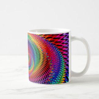 Wavy Rainbow Fractal Mug