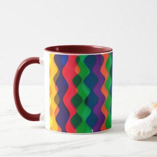 Wavy Rainbow Mix Mug