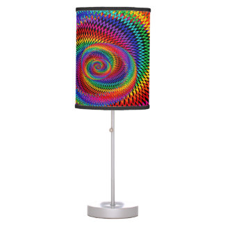 Wavy Rainbow Spiral Lamp