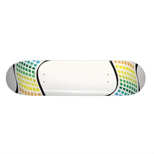 Wavy Rainbow Squares Abstract Layout Skate Deck