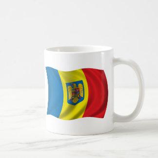 Wavy Romania Flag Coffee Mug