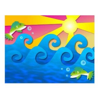 Wavy Sea Postcard