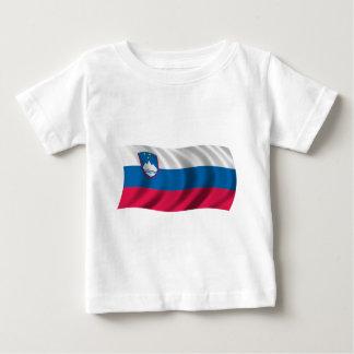 Wavy Slovenia Flag Baby T-Shirt