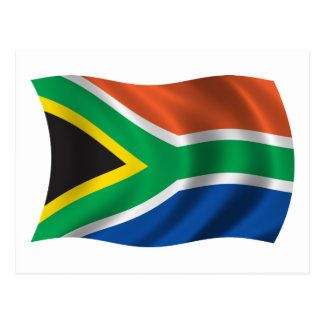 Wavy South Africa Flag Postcard