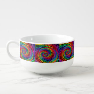 Wavy Spiral Rainbow Soup Mug
