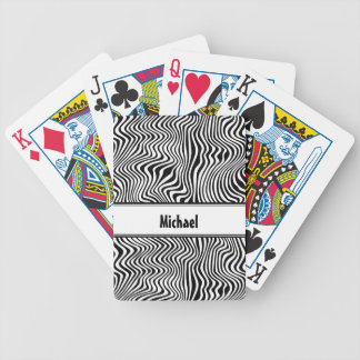 Wavy Stripes Bicycle Playing Cards