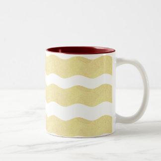 Wavy Stripes- Creamy Yellow: Coffee Mug