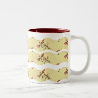 Wavy Stripes- Dragonfly Delight: Coffee Mug