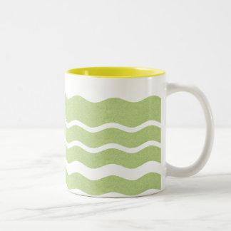 Wavy Stripes- Green: Coffee Mug