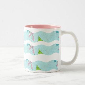 Wavy Stripes- Kites: Coffee Mug