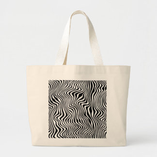 Wavy Stripes Large Tote Bag