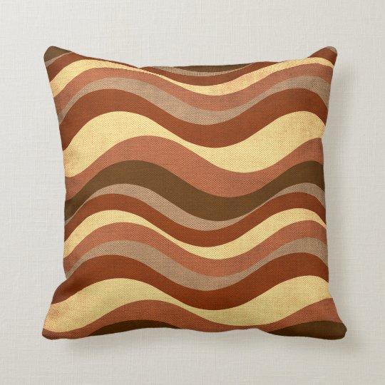 Wavy Stripes Pattern Throw Pillow