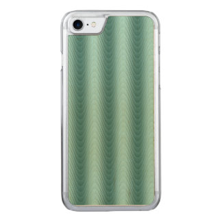 Wavy Teal Abstract Pattern Carved iPhone 7 Case