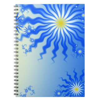 Wavy Tropical Sun Notebook