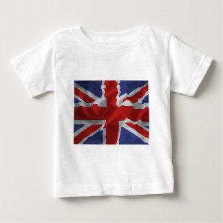 wavy Union Jack Baby T-Shirt