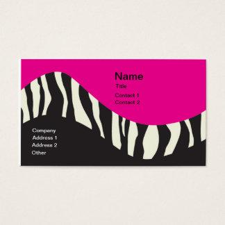 Wavy Zebra striped business card