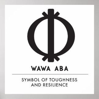 Wawa Aba | Adinkra Symbol of Toughness Poster