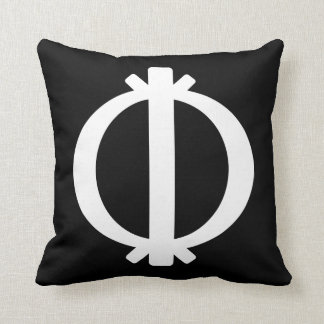 Wawa Aba | Adinkra Symbol of Toughness Throw Pillow
