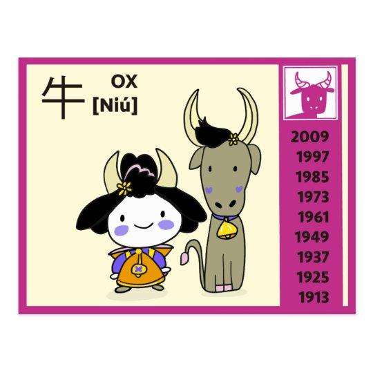 WaWa Chinese Zodiac BirthDay Card - OX