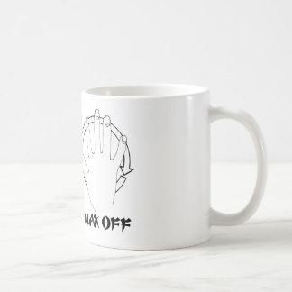 wax on karate coffee mug