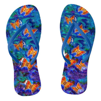 Wax Relief Butterflies Flip Flops