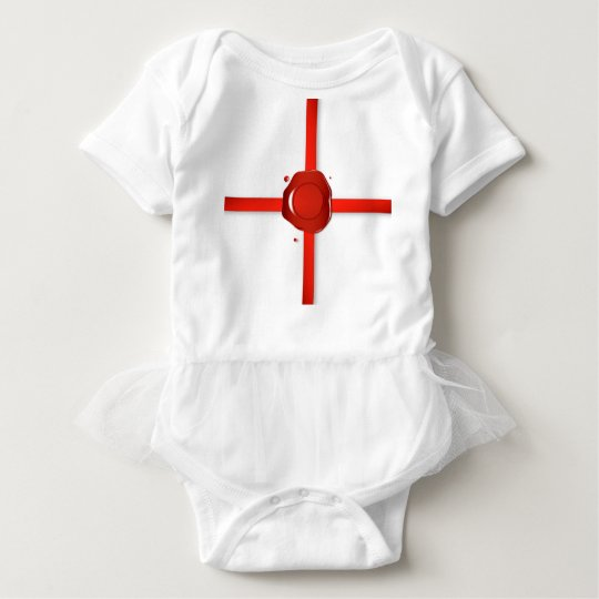 Wax Seal And Red Ribbon Baby Bodysuit