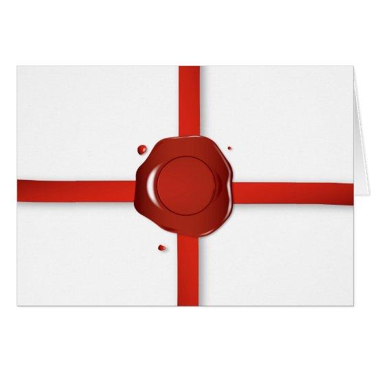 Wax Seal And Red Ribbon Card