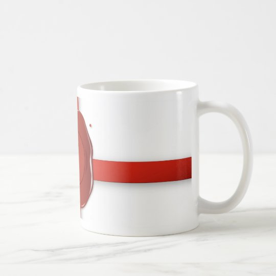 Wax Seal And Red Ribbon Coffee Mug