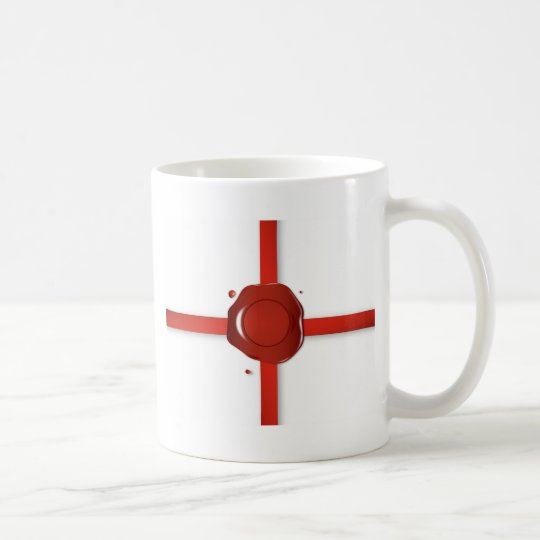 Wax Seal And Red Ribbon Coffee Mug