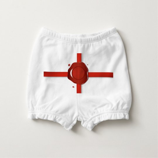 Wax Seal And Red Ribbon Diaper Cover