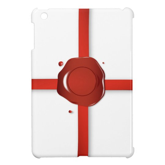 Wax Seal And Red Ribbon iPad Mini Case