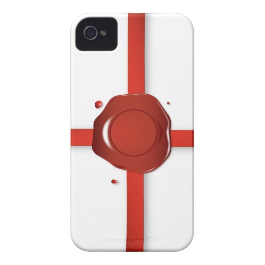 Wax Seal And Red Ribbon iPhone 4 Cover
