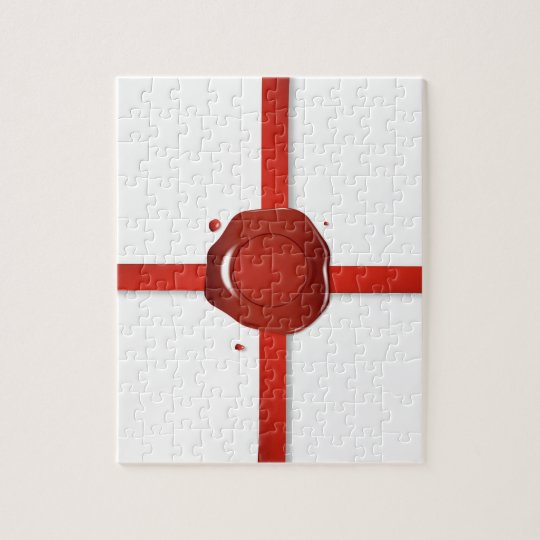 Wax Seal And Red Ribbon Jigsaw Puzzle