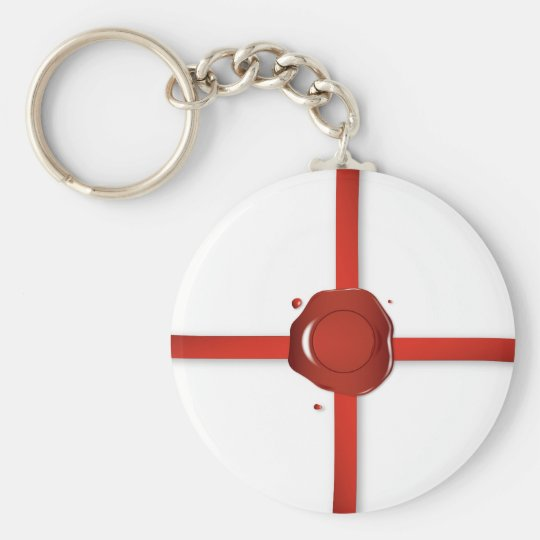 Wax Seal And Red Ribbon Keychain