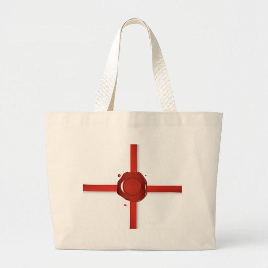Wax Seal And Red Ribbon Large Tote Bag