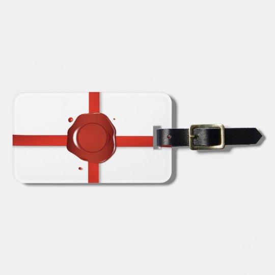 Wax Seal And Red Ribbon Luggage Tag