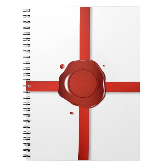Wax Seal And Red Ribbon Notebook